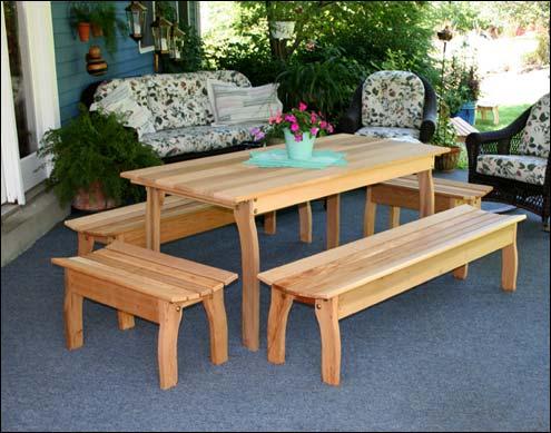 cedar outdoor furniture cedar patio