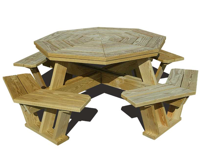 hexagon picnic table plans build