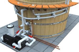 Northern Lights Cedar Tubs  Hot Tub Heat Exchanger