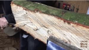 Bench- rough wood