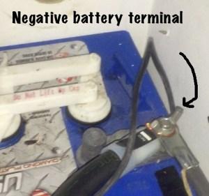 Negative-battery-terminal
