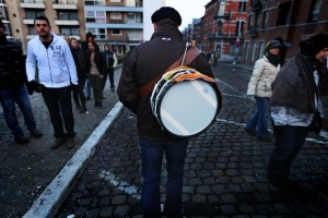 Musiciens au carnaval de Binche