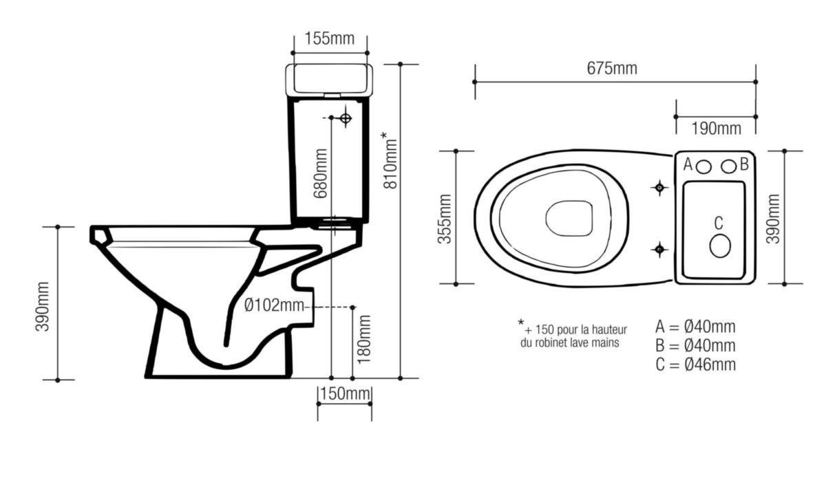 alterna pack wc avec lave mains