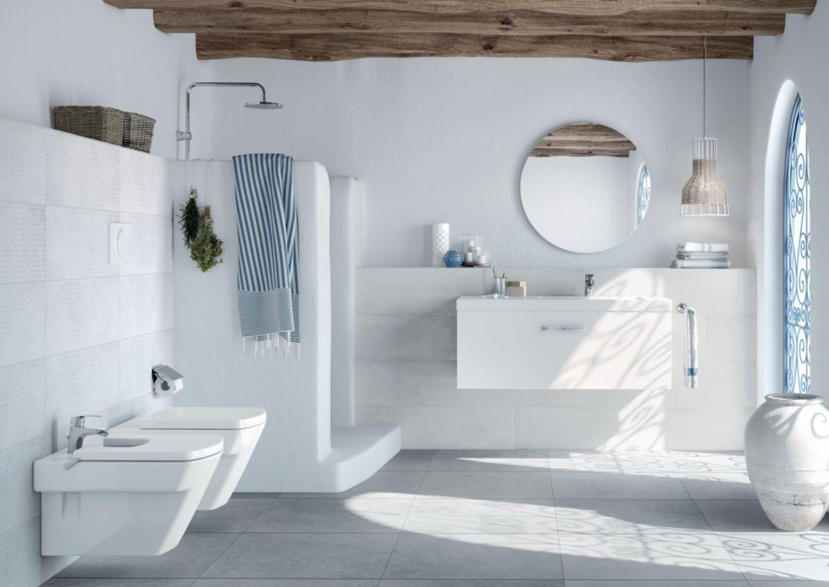 Arte Home Carrelage Mural Interieur Faience Iroise Blanc 25x70 Cm Cedeo