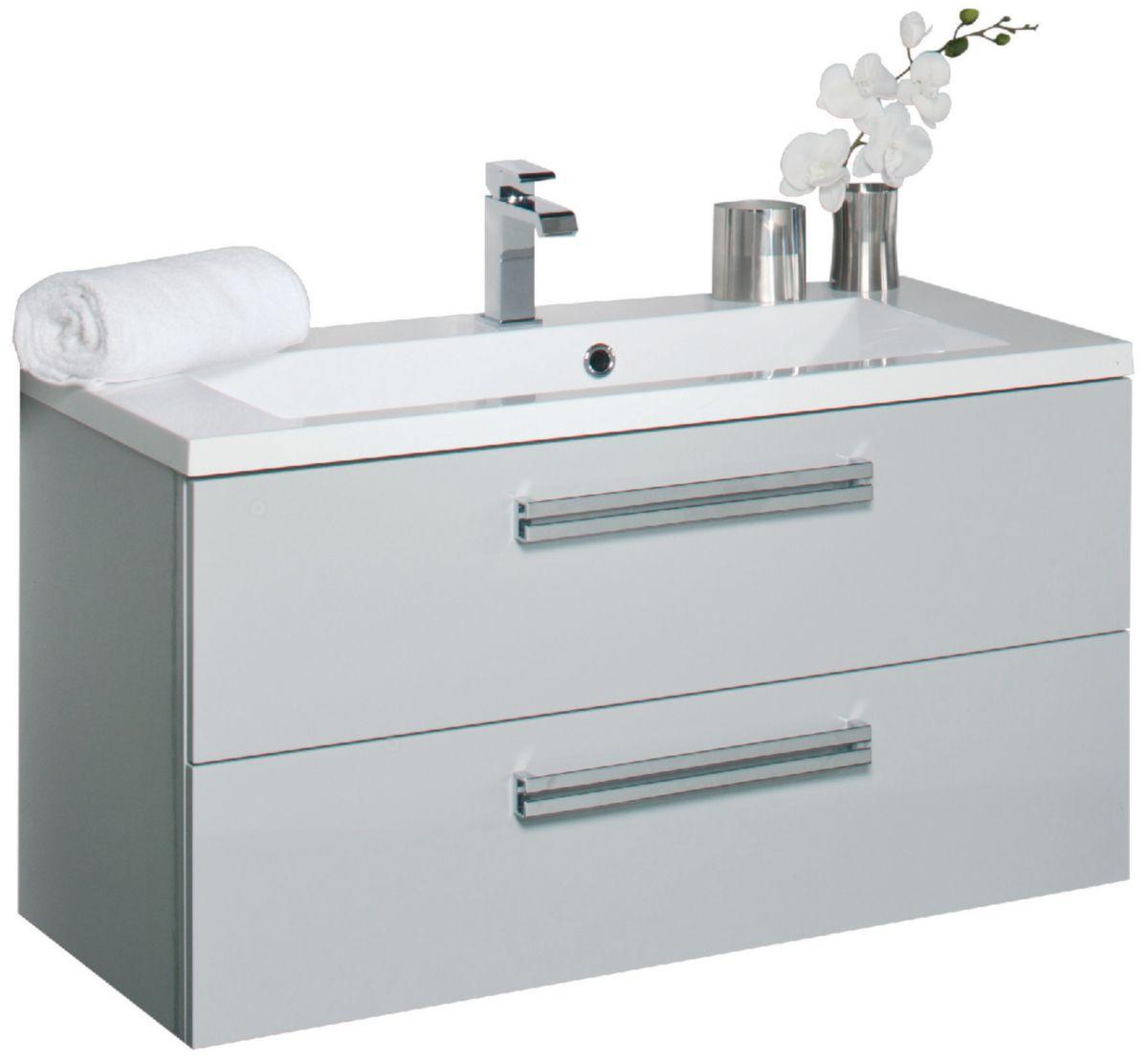 alterna meuble sous vasque seducta 90 cm 2 tiroirs gris perle cedeo