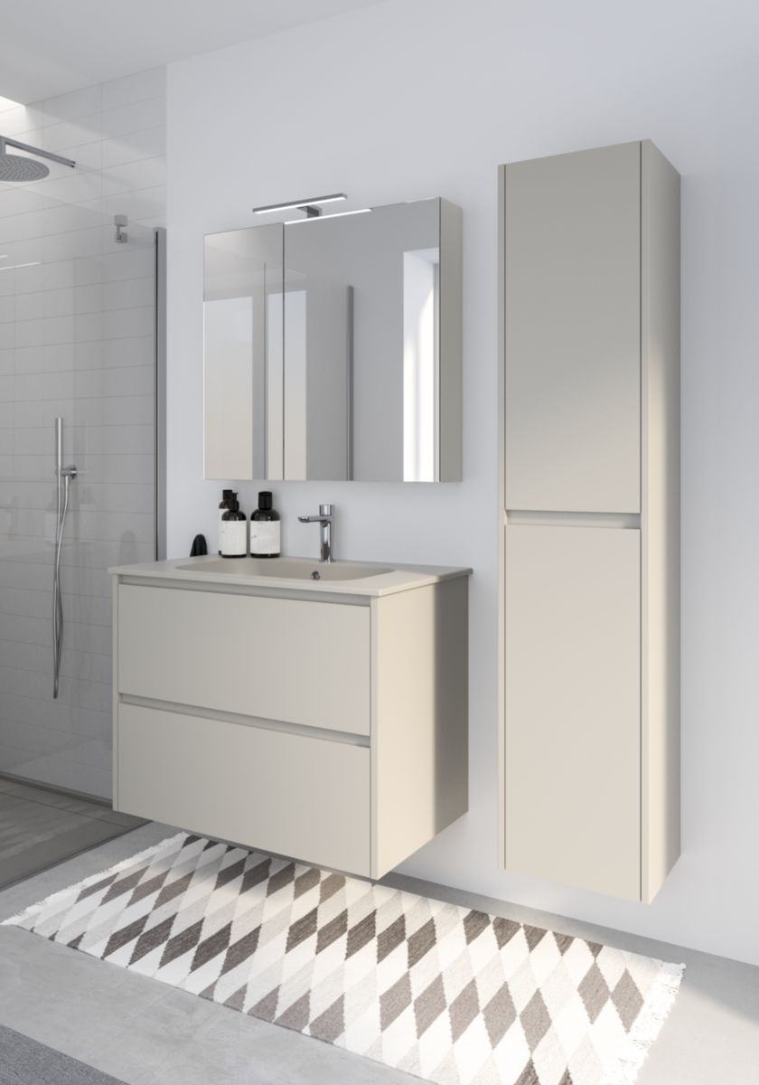 Alterna Armoire De Toilette All Day 2 Portes Droite L75 Cedeo