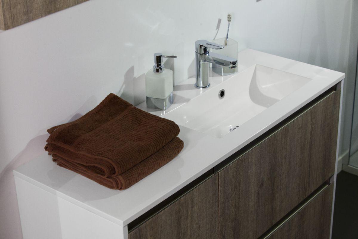 alterna plan synthese plenitude 105 cm vasque a droite profondeur 50 cm cedeo