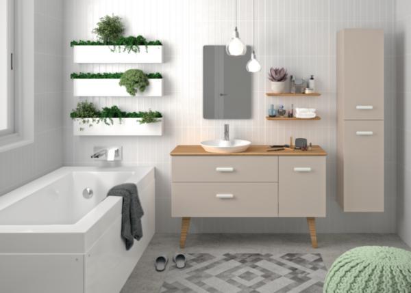 meuble salle de bain hygge 130 cm cedeo