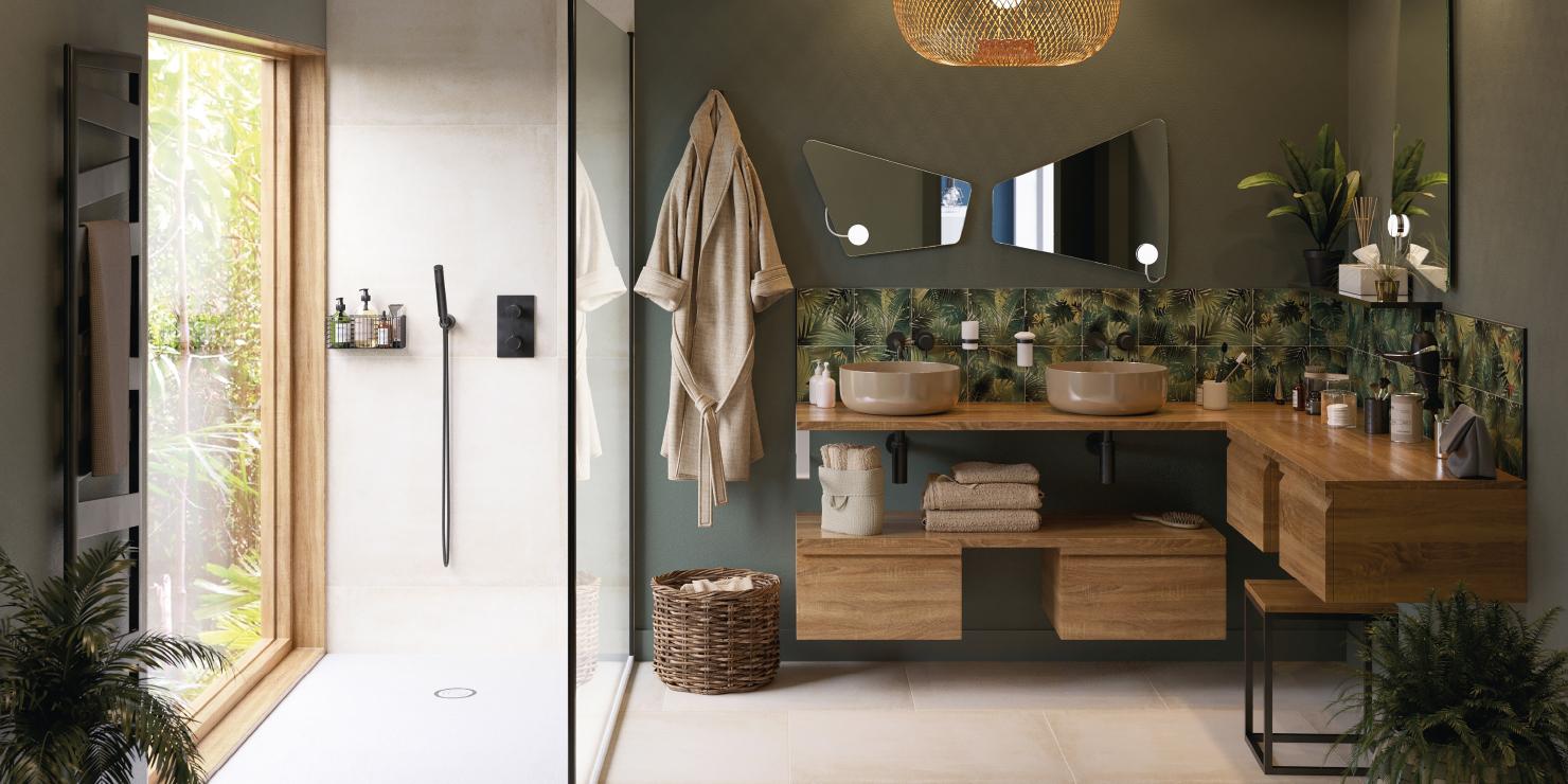 salle de bain style exotique cedeo