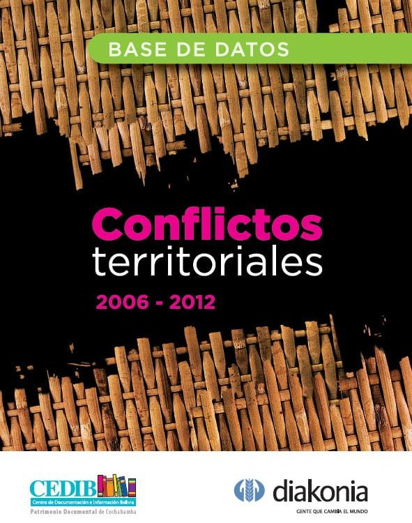 Conflictos territoriales. Bases de datos (2006-2012)