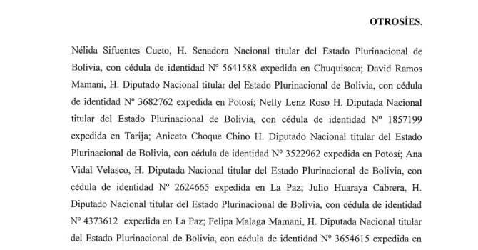 Memorial de recurso de inconstitucionalidad – Reelección