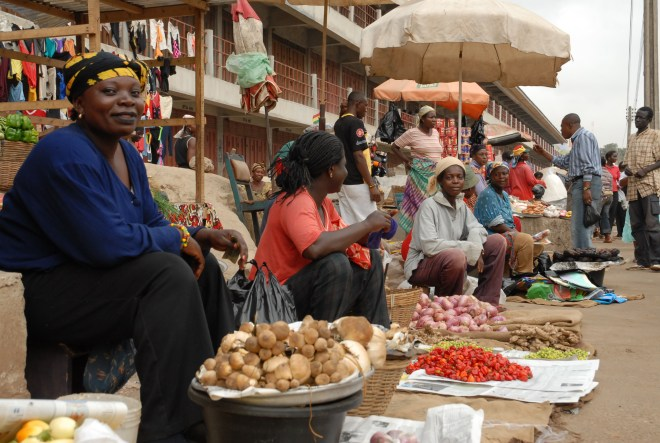 A Market in Ghana. Credit: thecommentator.com