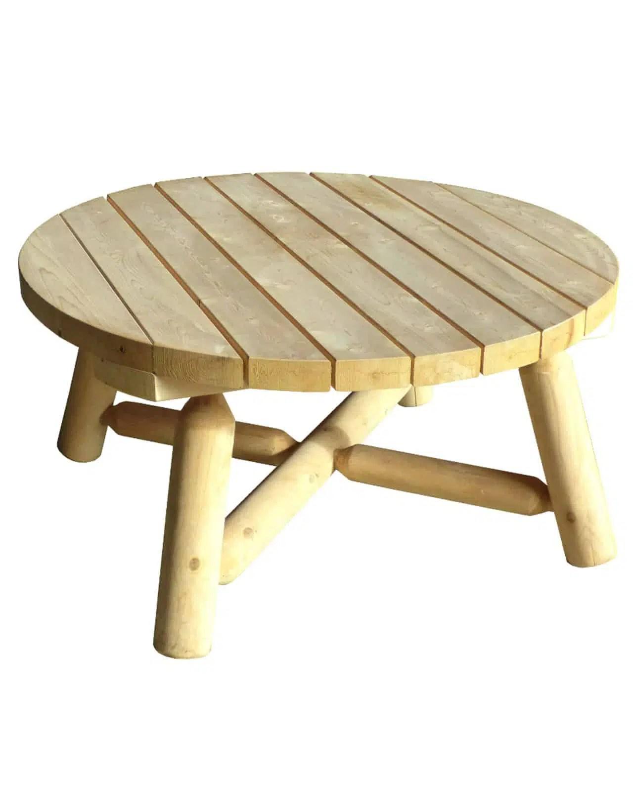 Table Basse de Jardin en bois de cdre blanc  Grand Modle