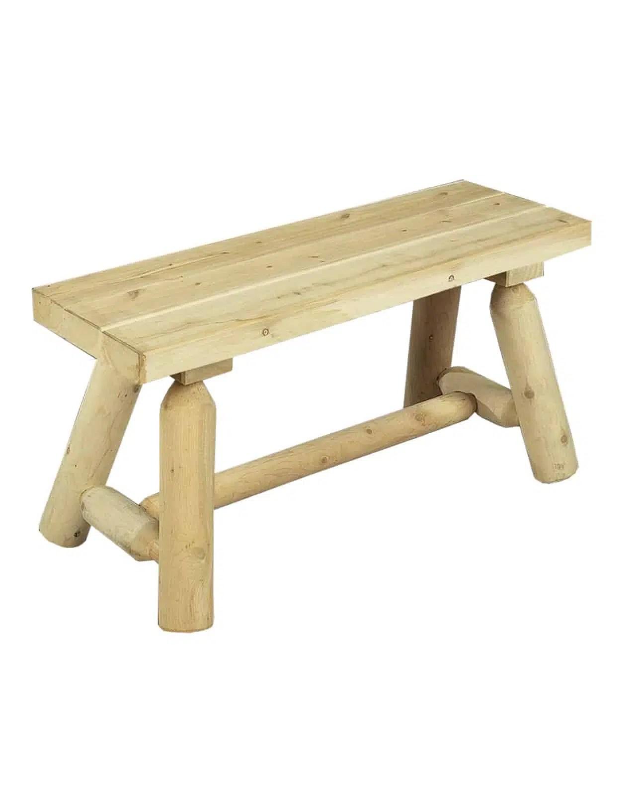 banc de jardin en bois de cedre blanc ref b20a