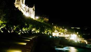 Biarritz, L'Eglise Sainte Eugénie la nuit