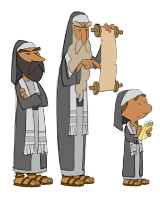 Animation Character Designs of Pharisees