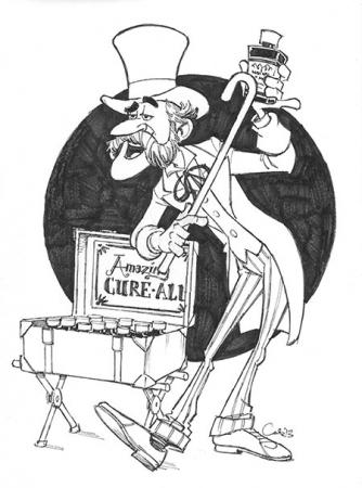 Snake Oil Salesman - Sketch by Cedric Hohnstadt