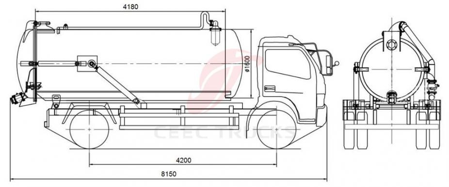 HOT SALE ISUZU 10 CBM Sewage Disposal Truck On Sale Truck