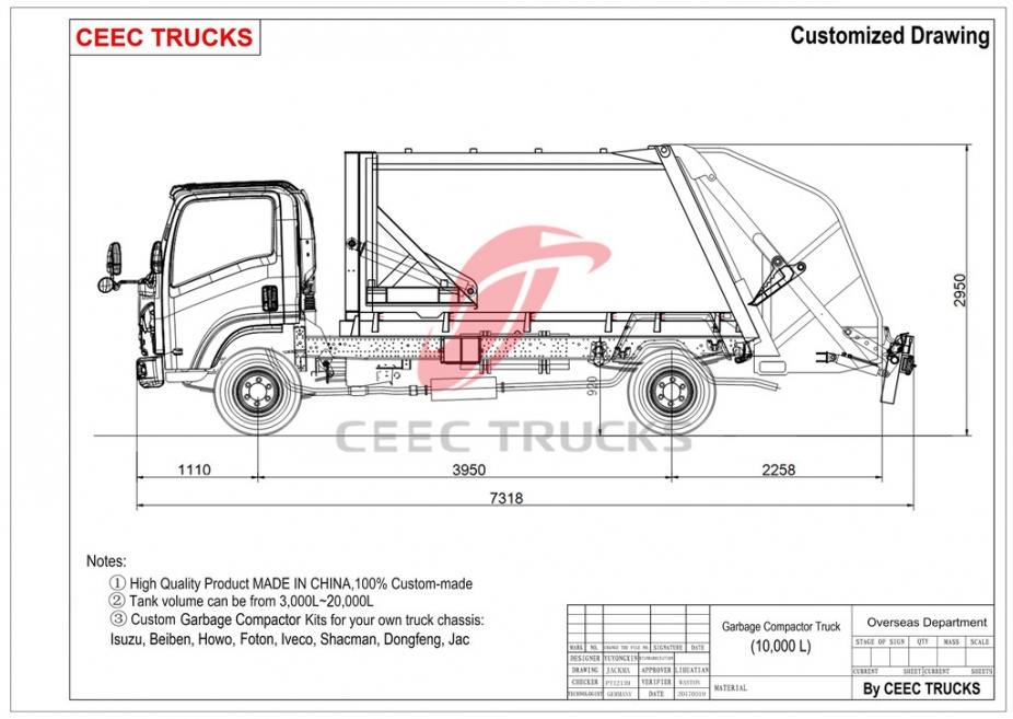 Buy 10 CBM Garbage Compactor,Chinese 10 CBM Garbage