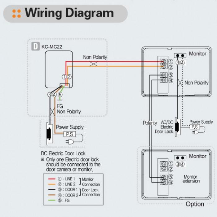 doorbell intercom wiring diagram