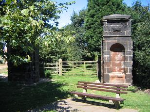 Gate piers re-erected on Fisherwick village green