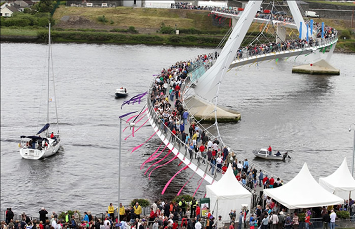 Open day celebrations for Peace Bridge