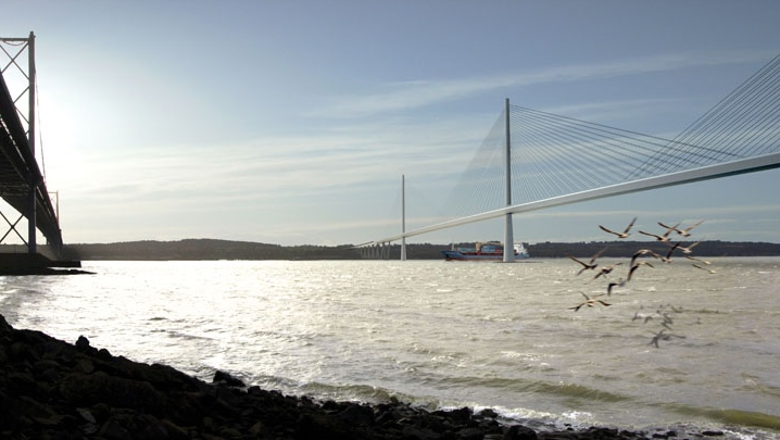 Artist impression of Forth Replacement Crossing (Queensferry Bridge)