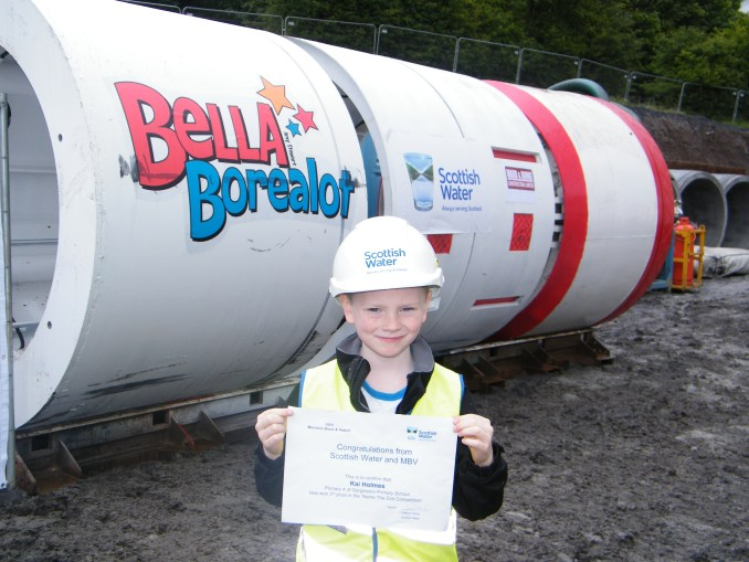 "Winner of the 'Name The Drill' competition with ""Bella Borealot"""