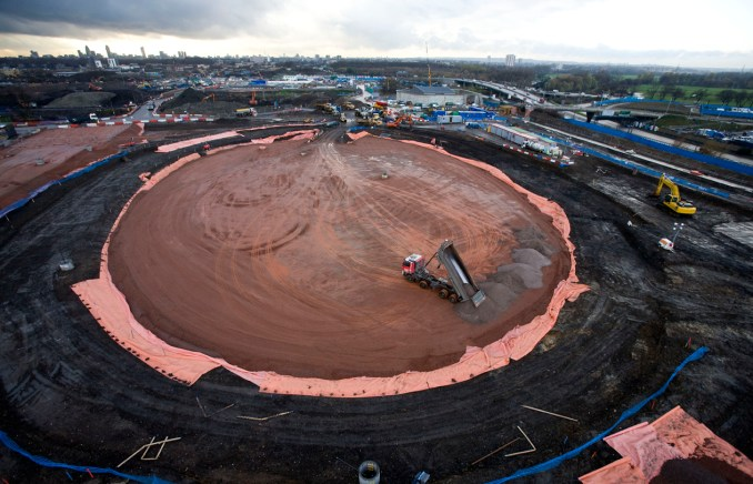 VeloPark. Aerial view of the Velodrome footprint. Picture taken on 02 Dec 2008 by David Poultney.