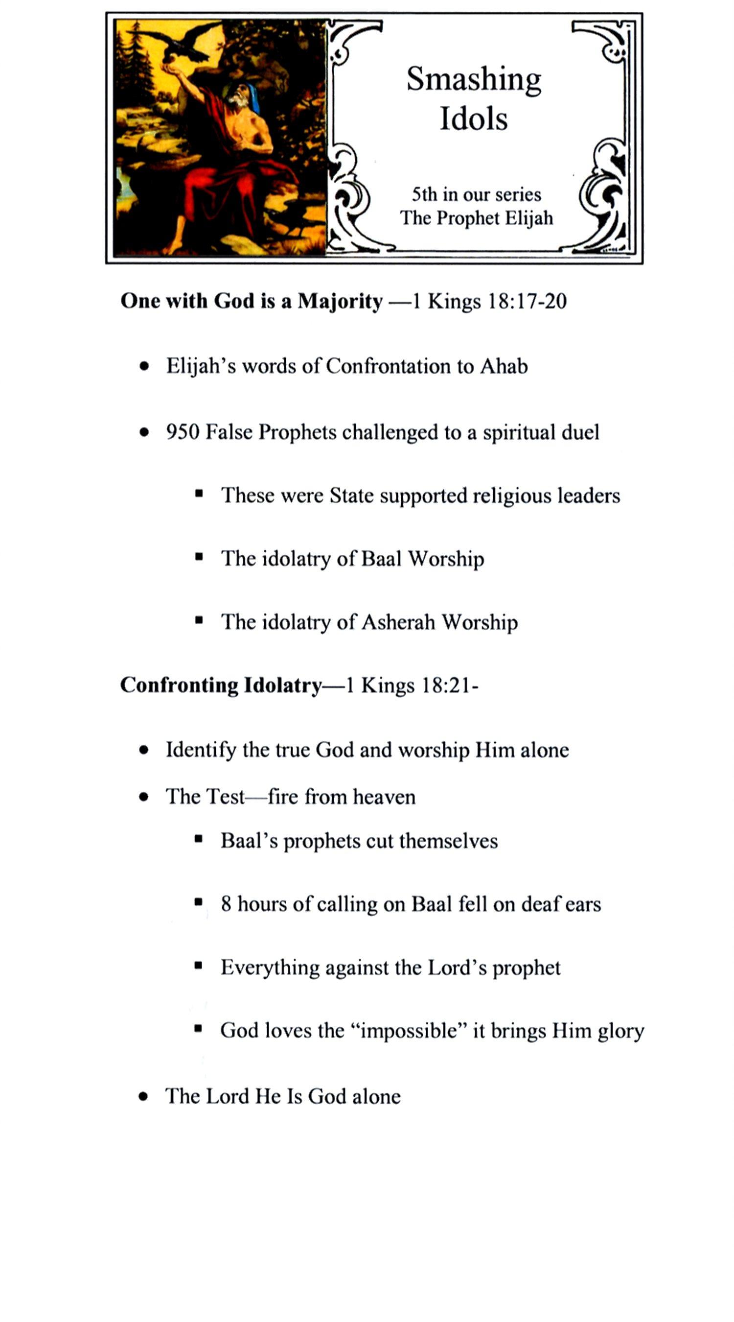 CEFC The Prophet Elijah Sermon Series Page