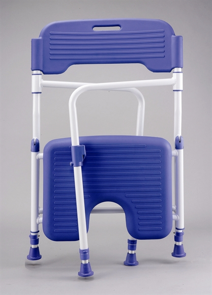 shower chair with back and arms hanging wayfair s302pu folding - cefndy healthcare