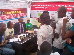 Media, CSOs and Community members during a Press Conference at CEHURD