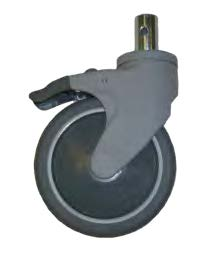 wheelchair caster grey