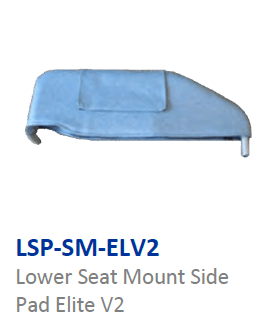 Lower side pads Seat mounted Version