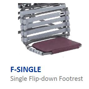 Single Flip Down Footrest