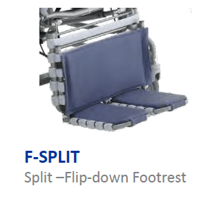 Split Flip down Footrest