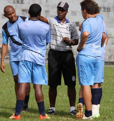 Marquinhos Bahia em seu último treino