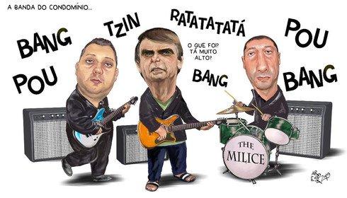 Resultado de imagem para Bolsonaro e milicianos - aroeira - charges