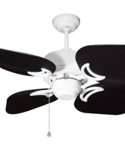 35 inch Bombay Pure White and Oil Rubbed Bronze Ceiling Fan