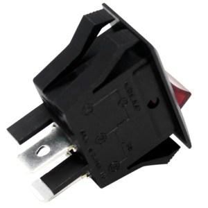 Zing Ear ZE215 Rocker Switch 2 Prong Snapin 15A 120V