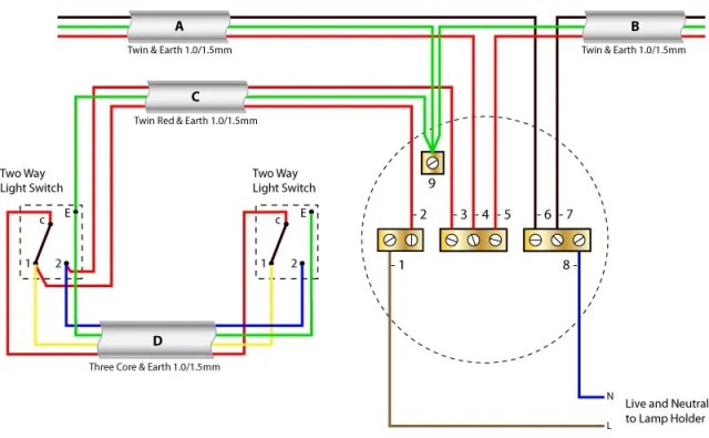 Stupendous Double 2 Way Light Switch Wiring Uk Hobbiesxstyle Wiring Cloud Cosmuggs Outletorg