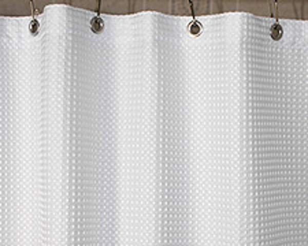 "Shower Curtains 108"" Waffle Fabric Shower Curtain"