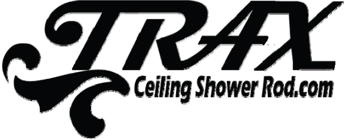 ceiling shower rod com by trax