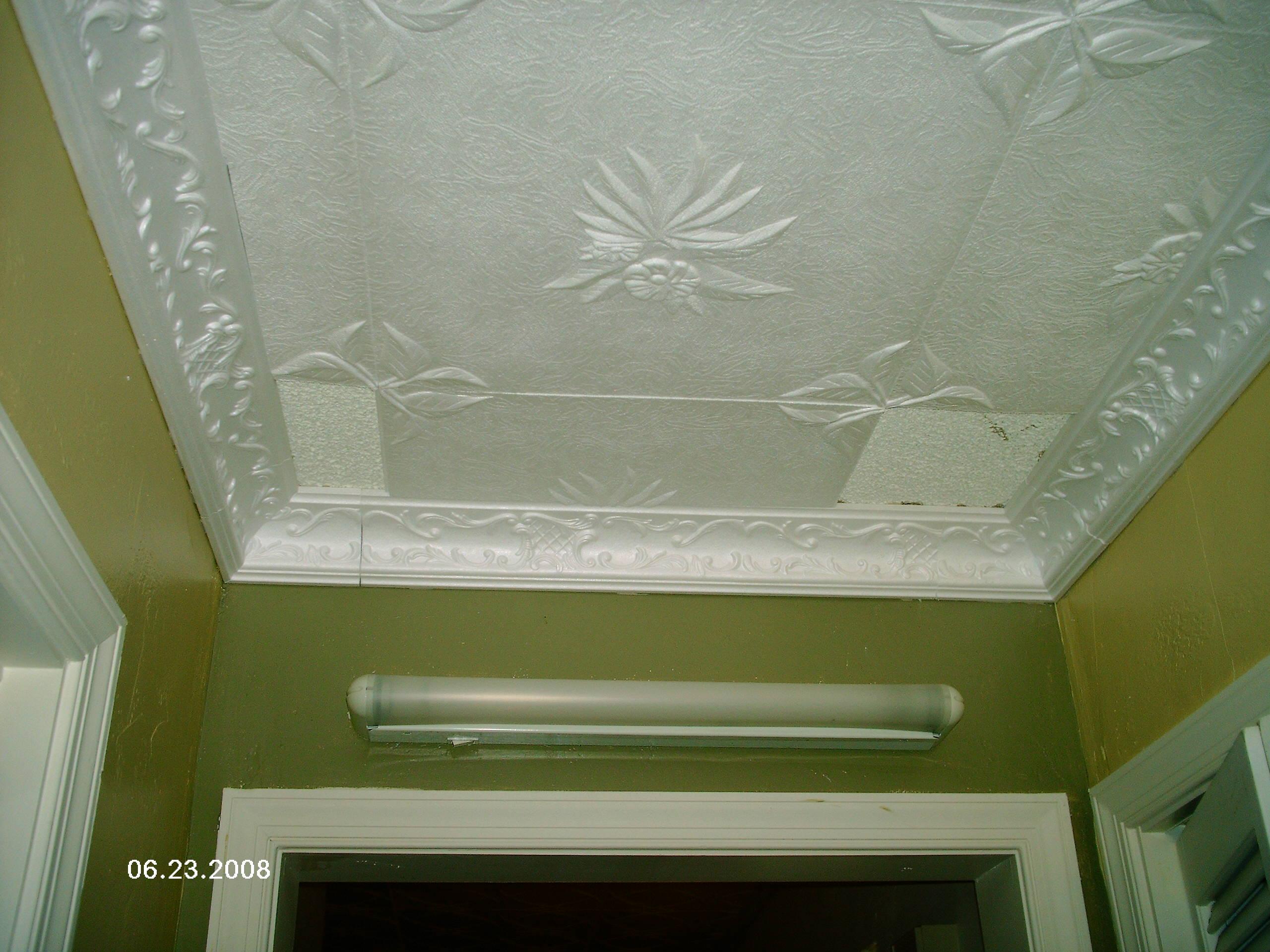 Styrofoam Molding Installed