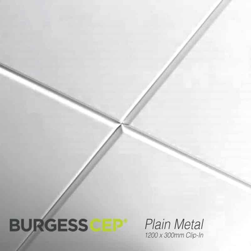 burgess clip in metal ceiling tiles 1200 x 300mm plain ptp2045