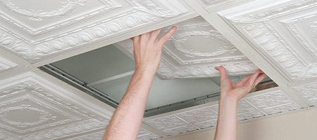 How To Cut Ceiling Tile Grid