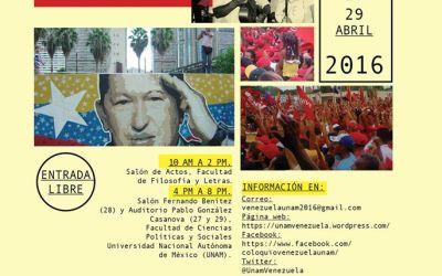 I Coloquio Internacional: La Revolución Bolivariana. De la democracia patagónica al estado comunal. Avances y Retos.