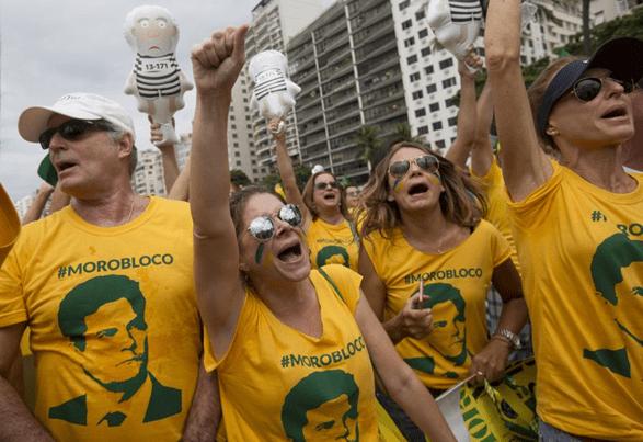 Derechas outdoors, la marcha de los oposicionistas