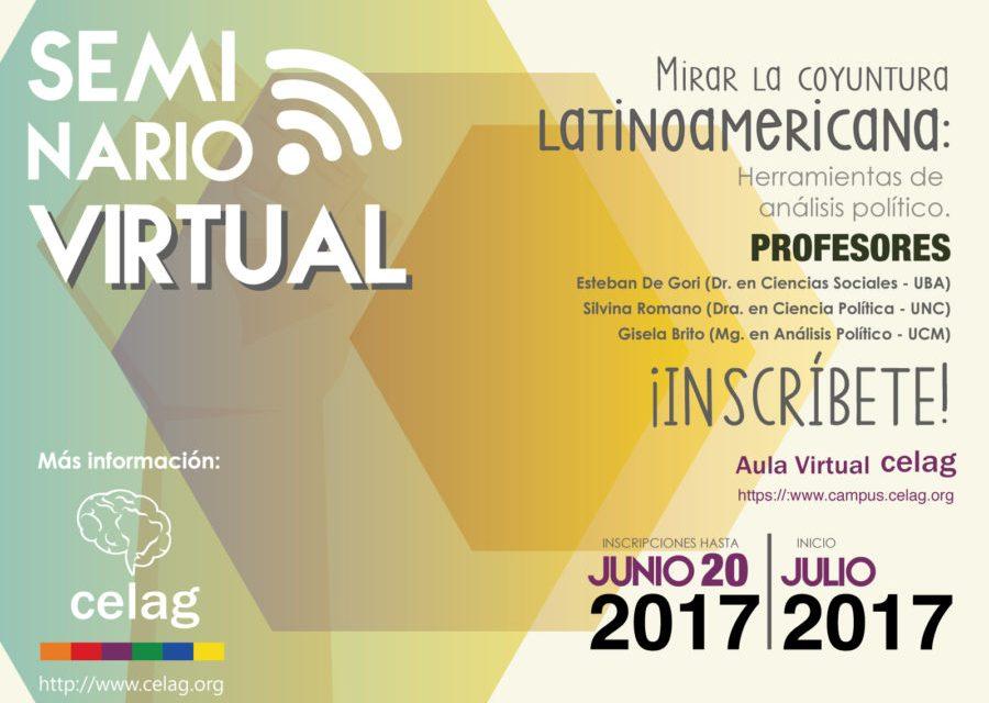 [Seminario virtual] Mirar la coyuntura latinoamericana: herramientas de análisis político