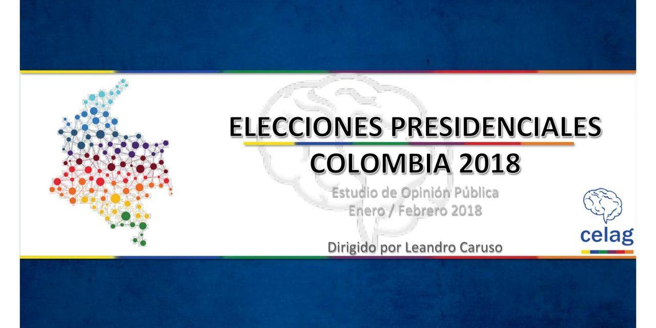 Estudio de opinión pública en Colombia. Elecciones presidenciales 2018